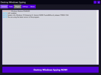 Destroy Windows Spying 1.0.1.0
