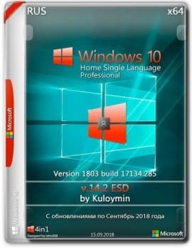 Windows 10 HSL/Pro 1803 x64 by kuloymin v14.2