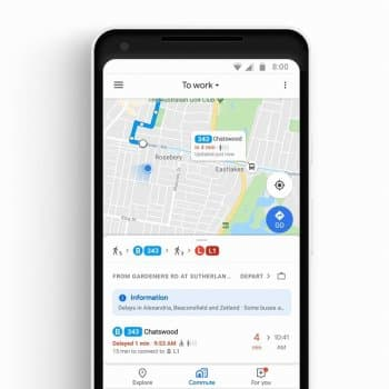 Google Maps сможет отслеживать общественный транспорт